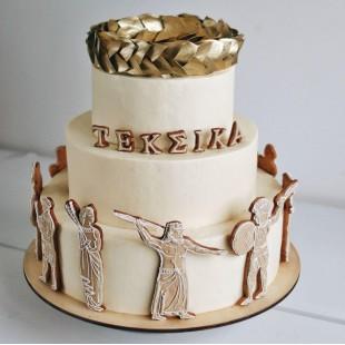Корпоративный торт в греческом стиле